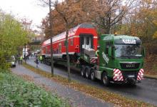 Spedition Kübler - Transport Doppelstockwagen 1