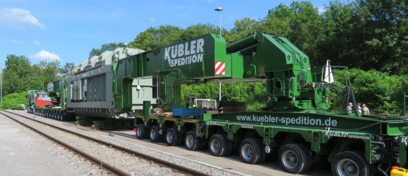 Trafotransport Spedition Kübler - Tragschnabel auf Schiene & Straße