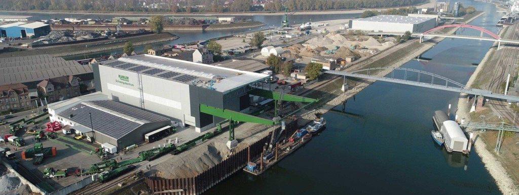 Spedition Kübler Schwertransporte, Schwergutumschlag, Schwergutzentrum Mannheim, Trimodales Schwergut-Terminal