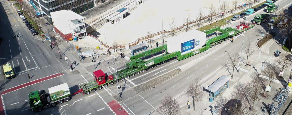 Schwertransport München -Spedition Kübler